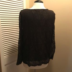 Dialogue Tops - Dialogue Black lace lined top Size 1X